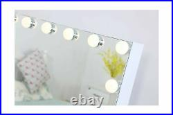 Hansong Large Vanity Makeup Mirror with Lights, Hollywood Lighted Mirror with