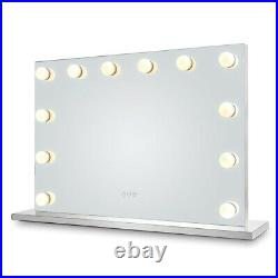 Hansong Large Vanity Mirror with Lights Hollywood Lighted Makeup Mirror with 15