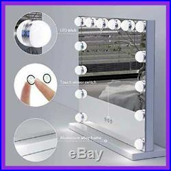 Hansong Vanity Makeup Mirror W Lights Hollywood Lighted 14 Pcs Dimmable Led Bulb