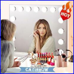 Holly wood Makeup Vanity Mirror with Light Stage Large Beauty Mirror White USA