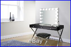 Hollywood 32 GLM Lighted Vanity Mirror with14 LED Bulbs Table Top, Wall Mount