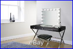 Hollywood 32 Lighted Vanity Mirror with14 LED withDimmer Table Top, Wall Mount