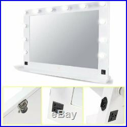 Hollywood 32 X 26 Lighted Vanity Mirror With 13 LED Table Top, Wall Mount US S2