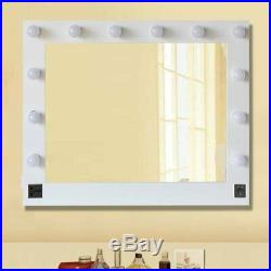Hollywood 32 X 26 Lighted Vanity Mirror With 13 LED Table Top, Wall Mount US TO