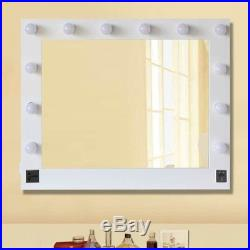 Hollywood 32X26 inch Lighted Vanity Mirror with 13 LED Table Top, Wall Mount MA