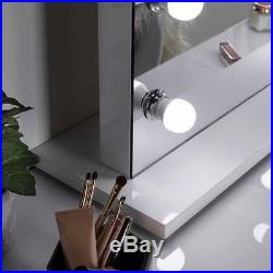 Hollywood Bedroom Led Makeup Mirror Large Electric Vanity Dressing Table