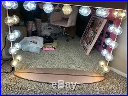 Hollywood Glow Pro Vanity Mirror from Impressions Vanity with Bulbs. Rose Gold