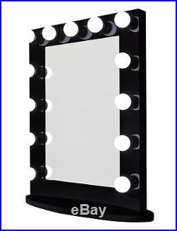 Hollywood Impact Lighted Vanity Mirror with LED Bulbs & Double Outlet