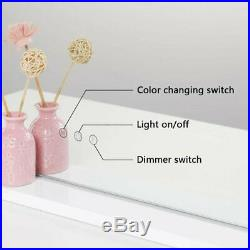 Hollywood LED Dimmable Lighted Makeup Shaving Mirror Vanity Glam Dressing Bath