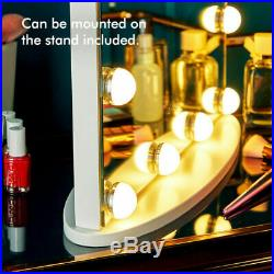 Hollywood LED Makeup Mirror Vanity Wall Mount Tabletop Touch Slimline Dimmable
