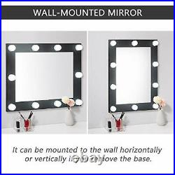Hollywood Large Vanity Makeup Mirror with LED Lights for Dressing Table