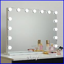 Hollywood Lighted Makeup Cosmetic Vanity Mirror with 15 LED Lights, Touch Large