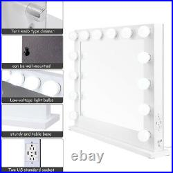 Hollywood Lighted Makeup Mirror Dimmer Vanity Mirror Tabletop/Wall Beauty Salon