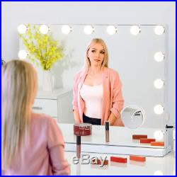 Hollywood Lighted Makeup Mirror with Large Vanity Mirror with LED Lights