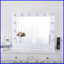 Hollywood Lighted Makeup Vanity Mirror with Lights PLUS FREE LED Dimmable Bulbs