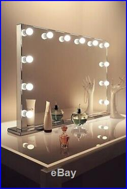 @ Hollywood Lighted Makeup Vanity Mirror with Lights Wall Mounted Bulbs 2,3