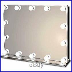 Hollywood Lighted Vanity Makeup Mirror With Bright LED Lights, 14 Dimmable Bulbs