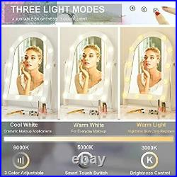 Hollywood Lighted Vanity Makeup Mirror with 12 LED Lights, Touch Control