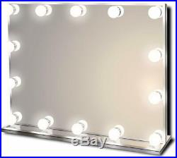 Hollywood Lighted Vanity Makeup Mirror with Bright LED Lights 14 Dimmable Bulbs