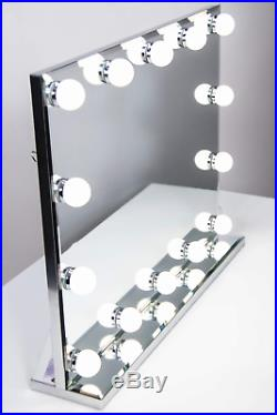 Hollywood Lighted Vanity Makeup Mirror with Bright LED Lights, Light-up Dressing