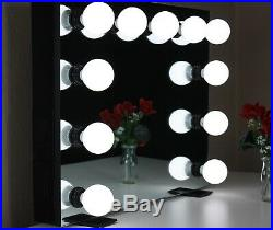 Hollywood Lighted Vanity Mirror Dimmable Black
