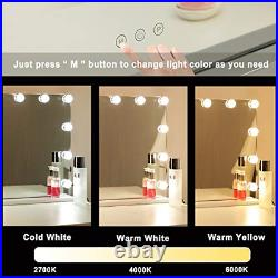 Hollywood Lighted Vanity Mirror for Bedroom & Dressing Room, Table top or LED 3