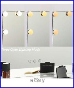 Hollywood Lighted Vanity Mirror with 12 LED Bulbs
