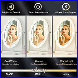 Hollywood Lighted Vanity Vintage Makeup Mirror with 12 LED Lights, Touch Control