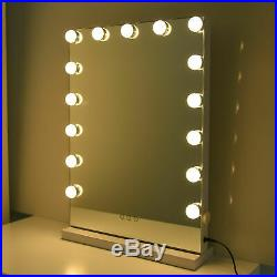 Hollywood Makeup Lighted Vanity Mirror Lights 15 LED Bulbs Dimmable Tabletops