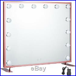 Hollywood Makeup Mirror Lighted Vanity Mirror Smart Touch 3 Colored Lights