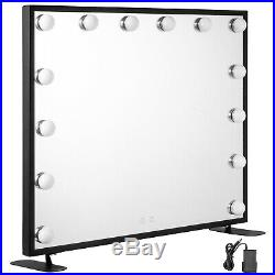 Hollywood Makeup Mirror Lighted Vanity Mirror Square Smart Touch Beauty Dressing