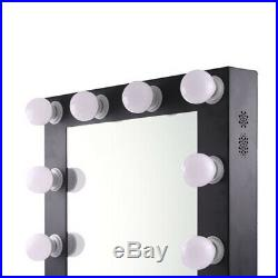 Hollywood Makeup Mirror Tabletop Vanity Lighted Dimmable 12 FREE LED Bulbs