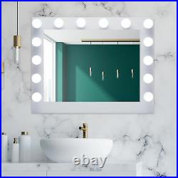 Hollywood Makeup Mirror w 14 Dimmable Vanity Lights Stands and Mounts 30 in