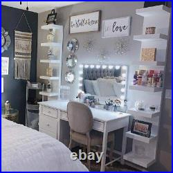 Hollywood Makeup Mirror with 18 Bulbs LED Cosmetic Vanity USB Charging/White
