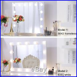 Hollywood Makeup Mirror with Light Vanity Lighted Mirror Tabletop Wall Mounted