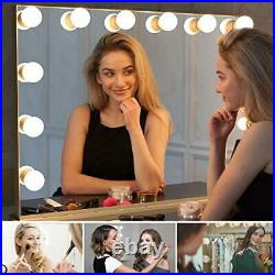 Hollywood Makeup Mirror with Lights, Large Frameless Vanity Mirror with