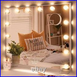 Hollywood Makeup Mirror with Lights, Large Vanity Mirror with 14pcs Dimmable LED