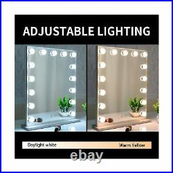 Hollywood Makeup Mirror with Lights, Vanity Mirror with 15pcs Adjustable Led L