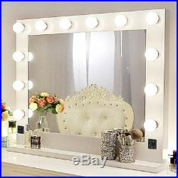 Hollywood Makeup Vanity Mirror 12 Lights Tabletops Lighted Mirror with Dimmer US