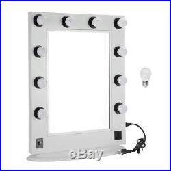 Hollywood Makeup Vanity Mirror Lighted Dimmer Aluminum Beauty Stage LED Bulbs OY