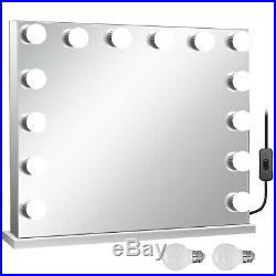 Hollywood Makeup Vanity Mirror Lighted Mirror Dimmer Frameless+FREE LED Bulbs