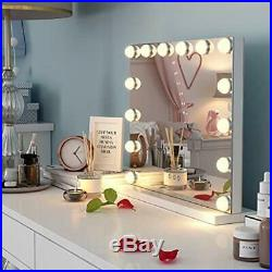 Hollywood Makeup Vanity Mirror Lights, Tabletop Cosmetic Lighted 14 LED Dimmable