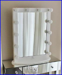 Hollywood Makeup Vanity Mirror Vertical with Dimmer and 12 LED Bulbs Lights