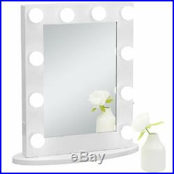 Hollywood Makeup Vanity Mirror Wall Mounted Light 12 LED Bulbs Bedroom White