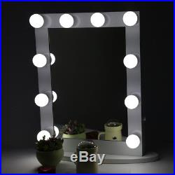Hollywood Makeup Vanity Mirror With Light Stage LED Beauty Mirror'Dimmer 65x50cm
