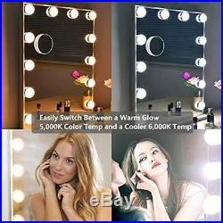 Hollywood Makeup Vanity Mirror With Lights Kit, Lighted Dressing Table Set Wall