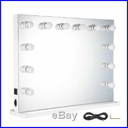 Hollywood Makeup Vanity Mirror with 12 Lights Stage Large Beauty Dimmer LED Bulb