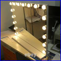 Hollywood Makeup Vanity Mirror with 17Light Stage Large Beauty Mirror Frameless