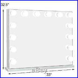 Hollywood Makeup Vanity Mirror with Light Large Stage Beauty Mirror Frameless