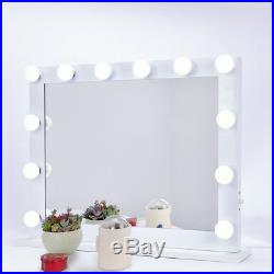 Hollywood Makeup Vanity Mirror with Light Stage Large Beauty Mirror+14 LED Bulbs